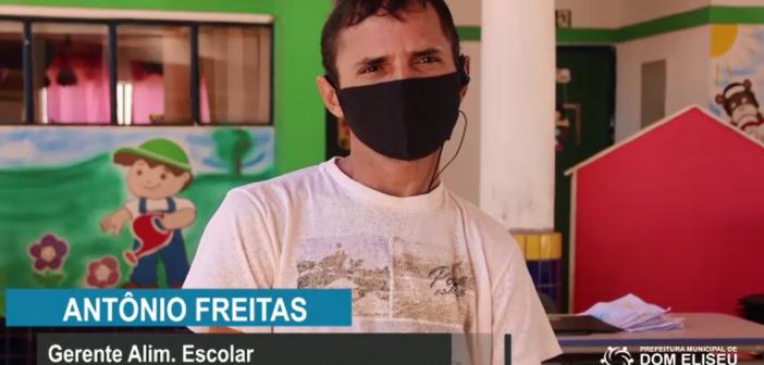 ENTREGA DE ALIMENTAÇÃO ESCOLAR   PARA ALUNOS DA REDE MUNICIPAL