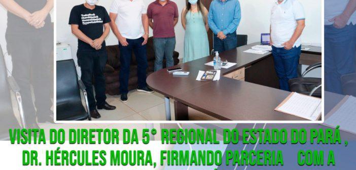 Visita do Diretor da 5° Regional do Estado do Pará , Dr. Hércules Moura, Firmando Parcerias  Com a Secretaria Municipal de Saúde de Dom Eliseu