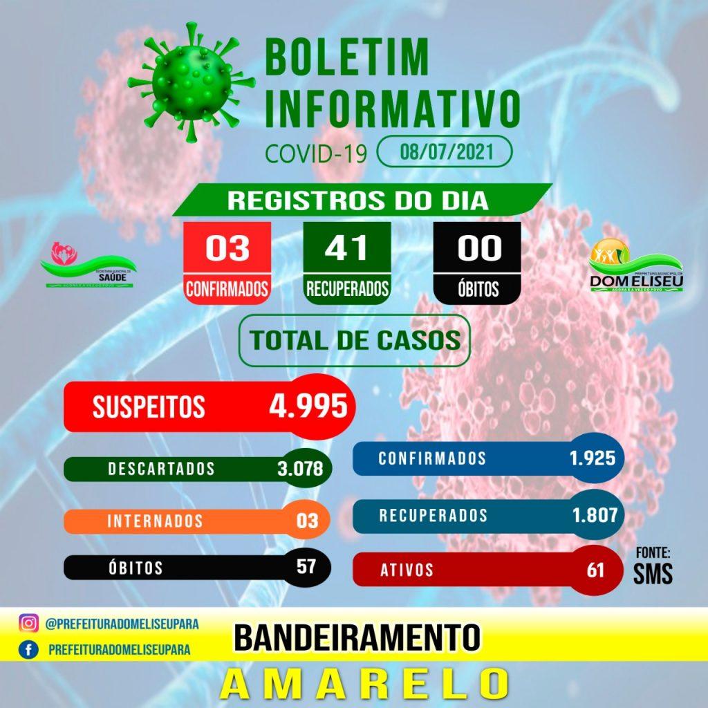 Boletim COVID-19 (08/07/2021)